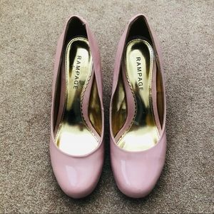 Rampage Baby Pink Patent Leather Pumps